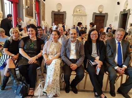 Delegazione indonesiana, con il Primo Segretario, Veronica Vonny.