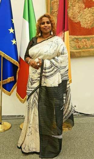 La stilista Shammy Gunathilaka