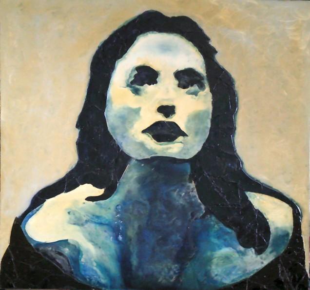 THE SILENCE OF Marina Abramovic Carla Bertoli Tecnica mista 90x90 -2010