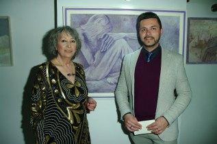 Maralba Focone con il Critico d'Arte Pasquale Di Matteo