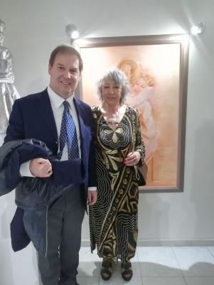 Maralba Focone con il Principe Guglielmo Giovanelli Marconi